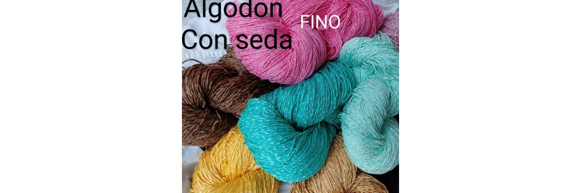 Algodon con seda fino