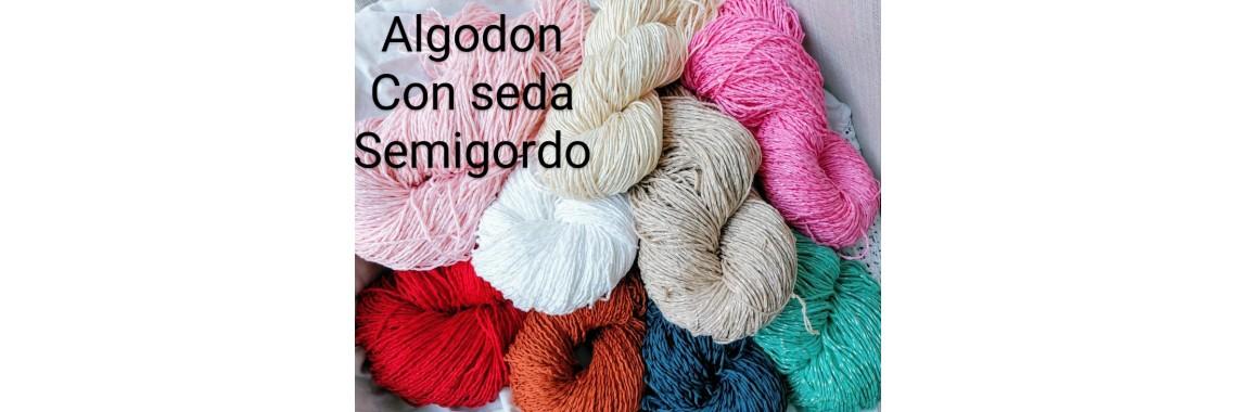 Algodon con seda semigordo